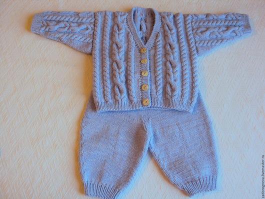 Одежда ручной работы. Ярмарка Мастеров - ручная работа. Купить Костюмчик для новорожденного рост 62-68 см. Handmade. Разноцветный