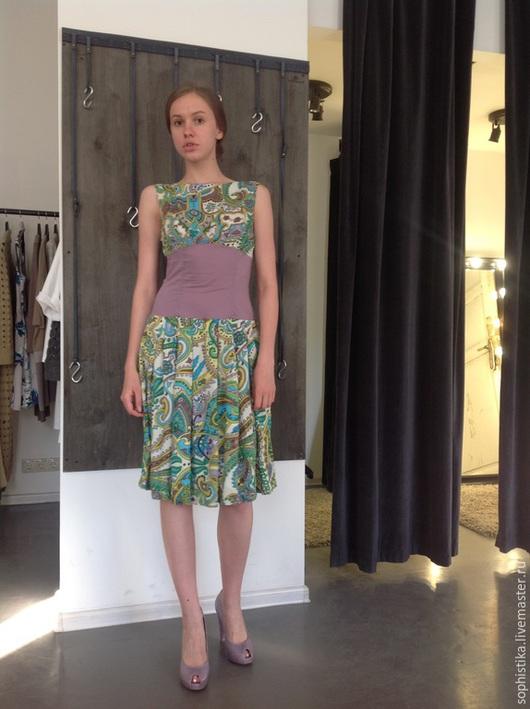 Платья ручной работы. Ярмарка Мастеров - ручная работа. Купить -70% Летнее романтичное платье. Handmade. Пейсли, пышная юбка