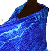 Аксессуары handmade. Livemaster - original item warm Scarf wool and silk sky blue hand work, woman gift. Handmade.