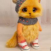 Куклы и игрушки ручной работы. Ярмарка Мастеров - ручная работа Рыжий котик игрушка. Handmade.
