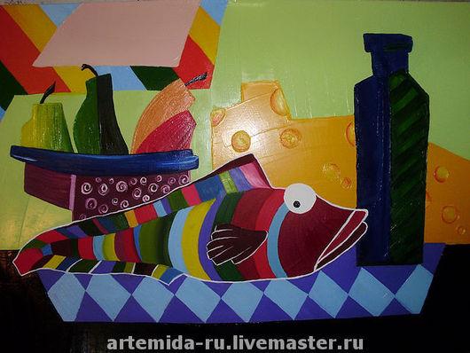 """Абстракция ручной работы. Ярмарка Мастеров - ручная работа. Купить Картина """"Рыба мечта"""". Handmade. Эксклюзивный подарок, картина"""