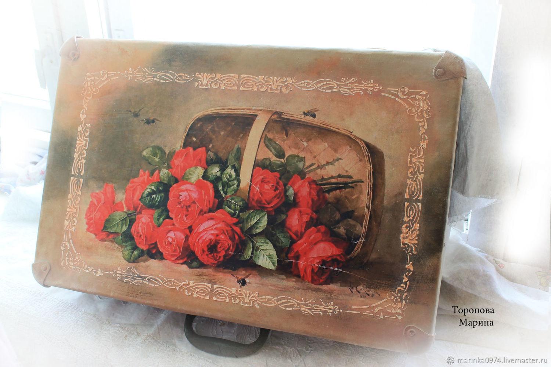 Decor old suitcases, Basket, Krasnoyarsk,  Фото №1