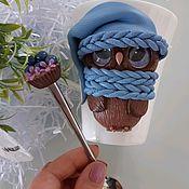 Кружки ручной работы. Ярмарка Мастеров - ручная работа Коужки с декором. Handmade.