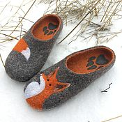 Обувь ручной работы handmade. Livemaster - original item Felted Slippers women`s