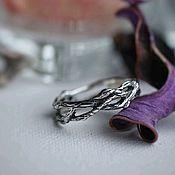 Кольца ручной работы. Ярмарка Мастеров - ручная работа Кольцо Ветка, серебро / Elven branch silver ring. Handmade.
