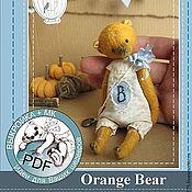 """Материалы для творчества ручной работы. Ярмарка Мастеров - ручная работа PDF МК+Выкройка  """"Orange Bear"""". Handmade."""