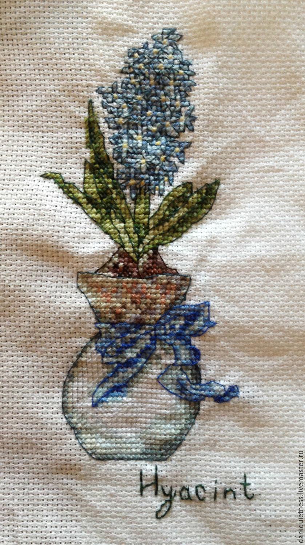 Вышивка ручная цветов
