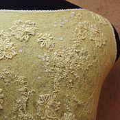 Одежда ручной работы. Ярмарка Мастеров - ручная работа Валяный топ Солнечный ветер. Handmade.