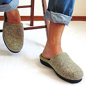 Обувь ручной работы. Ярмарка Мастеров - ручная работа Мужские тапки на подошве.. Handmade.