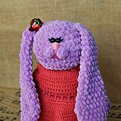 Куклы Тильда ручной работы. Ярмарка Мастеров - ручная работа Заяц крючком из плюшевой пряжи. Handmade.