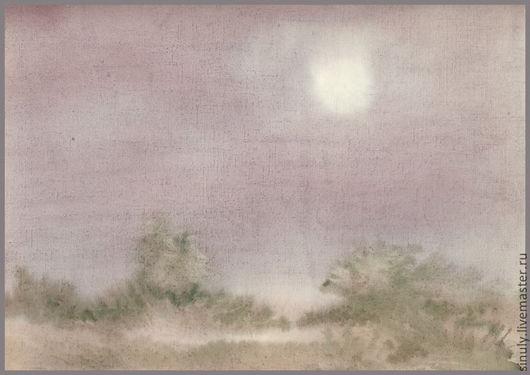 """Пейзаж ручной работы. Ярмарка Мастеров - ручная работа. Купить Акварель """"Серебристое утро"""". Handmade. Акварель, картина акварелью"""