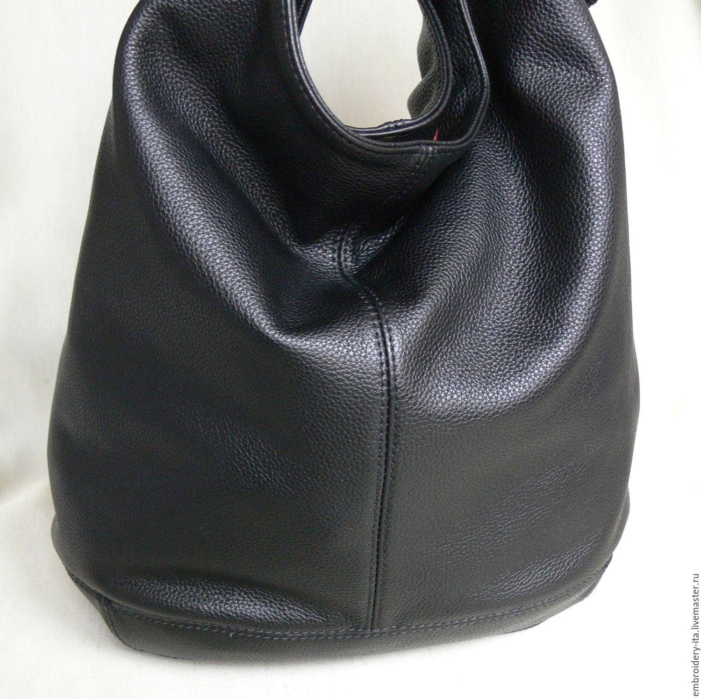 df604e27f61b ... кожаная женская большая мод. 005.5. Сумка-мешок из натуральной  итальянской кожи. Ручная работа.