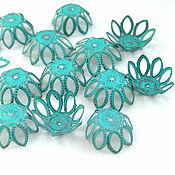 Материалы для творчества handmade. Livemaster - original item Accessories for jewelry: caps for beads filigree. Handmade.