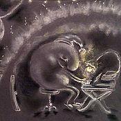 """Картины и панно ручной работы. Ярмарка Мастеров - ручная работа Картина пастелью """"Музыка ночи"""". Handmade."""