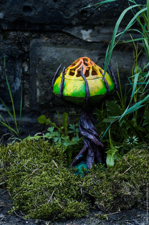 Candlestick `Mushroom tree` Master Isaev Evgeny