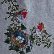 Для дома и интерьера ручной работы. Ярмарка Мастеров - ручная работа Скатерть с птицами. Handmade.
