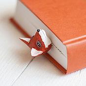 Канцелярские товары ручной работы. Ярмарка Мастеров - ручная работа Закладка Red fox. Handmade.