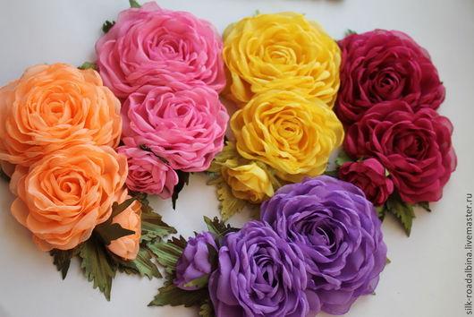 в наличии, розовый желтый, сиреневый, абрикосовый цвет  Материалы ткань, фурнитура, брошь, основа для броши, цветы, цветы из ткани, броши, цветок из ткани, цветы ручной работы, текстильный цветок,