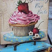 Банки ручной работы. Ярмарка Мастеров - ручная работа Короб сладкий десерт капкейк и мороженое. Handmade.
