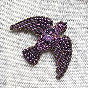 handmade. Livemaster - original item Brooch-pin. Brooch, beaded. Brooch Bird in Flight. Handmade.