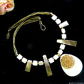 Украшения handmade. Livemaster - original item necklace made of natural mother of pearl. Handmade.