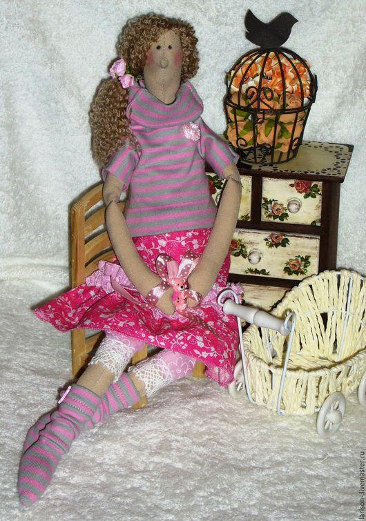 Куклы Тильды ручной работы. Ярмарка Мастеров - ручная работа. Купить Беременная кукла-тильда. Handmade. Розовый, оберег