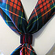 шелк искусственный шейный платок 50 на 50 см. Зажим прозрачный красный цена 680 руб