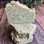 Мыло ручной работы. Ярмарка Мастеров - ручная работа Натуральное хвойное мыло со спирулиной ручной работы с нуля. Handmade.