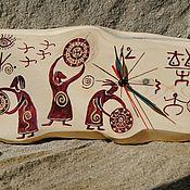 """Часы классические ручной работы. Ярмарка Мастеров - ручная работа Часы ручной работы из дерева """"Три зори"""". Handmade."""