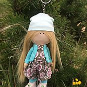 Куклы и пупсы ручной работы. Ярмарка Мастеров - ручная работа Текстильная интерьерная кукла-брелок. Handmade.