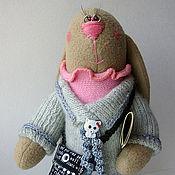 Куклы и игрушки ручной работы. Ярмарка Мастеров - ручная работа Зайка журналистка. Handmade.