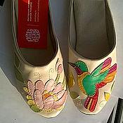 """Обувь ручной работы. Ярмарка Мастеров - ручная работа Домашние тапочки """"Колибри"""". Handmade."""