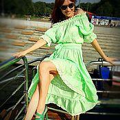 Одежда ручной работы. Ярмарка Мастеров - ручная работа Ассиметричное платье. Handmade.