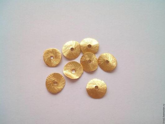 Для украшений ручной работы. Ярмарка Мастеров - ручная работа. Купить Позолоченные чипсы из серебра 925 пробы. Handmade. Золотой