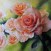 """Картины и панно ручной работы. Ярмарка Мастеров - ручная работа Розы """"Запах мечты!"""". Handmade."""