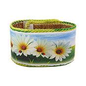 Украшения handmade. Livemaster - original item Bracelet nettle Chamomile field. Handmade.