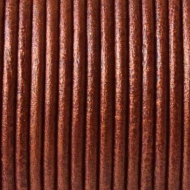 Материалы для творчества ручной работы. Ярмарка Мастеров - ручная работа Шнур кожаный 1,5 мм, медный металлик. Handmade.