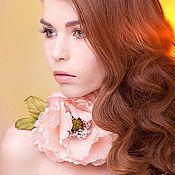 Свадебный салон ручной работы. Ярмарка Мастеров - ручная работа Цветы из ткани - шелковый мак. Handmade.