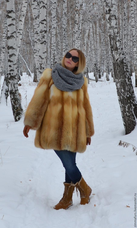 coat. Jacket fur Siberian red Fox, Fur Coats, Omsk,  Фото №1