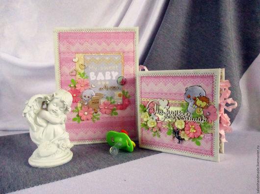 Подарочные наборы ручной работы. Ярмарка Мастеров - ручная работа. Купить Подарочный набор для новорожденного. Handmade. Розовый, блокнот для мамы