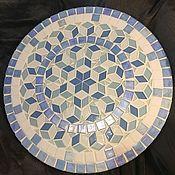Столик мозаичный Бело-голубое счастье