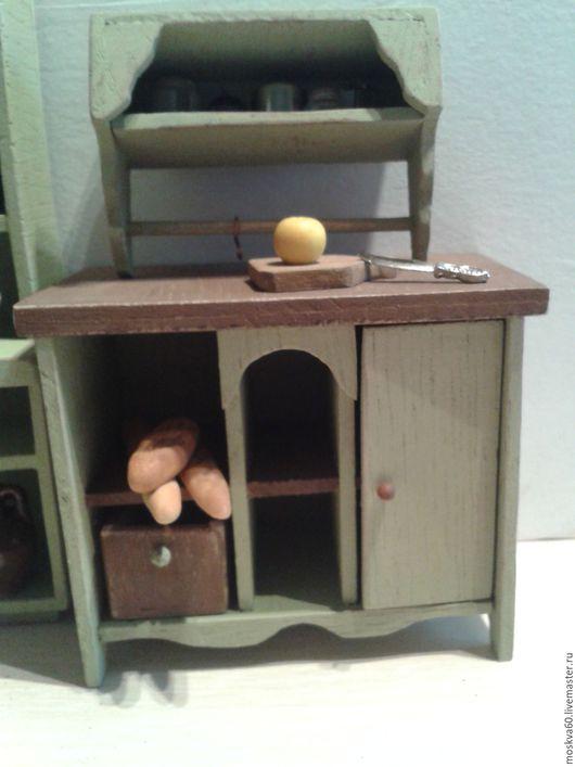 """Кукольный дом ручной работы. Ярмарка Мастеров - ручная работа. Купить Навесная полка для кукольного дома """"Оливковое настроение"""". Handmade."""