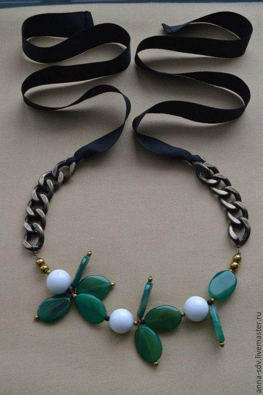 """Колье, бусы ручной работы. Ярмарка Мастеров - ручная работа. Купить Ожерелье """"Цветы"""". Handmade. Комбинированный, колье с камнями"""