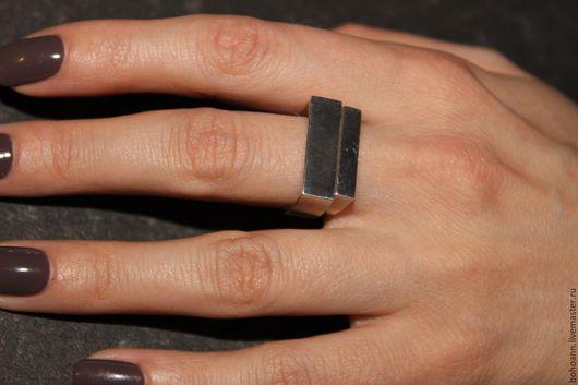 Кольца ручной работы. Ярмарка Мастеров - ручная работа. Купить Геометрическое кольцо. Handmade. Серебряный, кольцо в подарок, подарок
