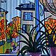 Город ручной работы. Ярмарка Мастеров - ручная работа. Купить Картина холст масло Дождь за окном. Handmade. Комбинированный