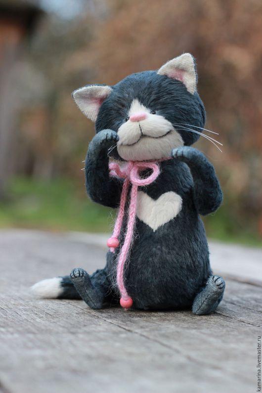 Мишки Тедди ручной работы. Ярмарка Мастеров - ручная работа. Купить Мисти. Handmade. Темно-серый, кот тедди