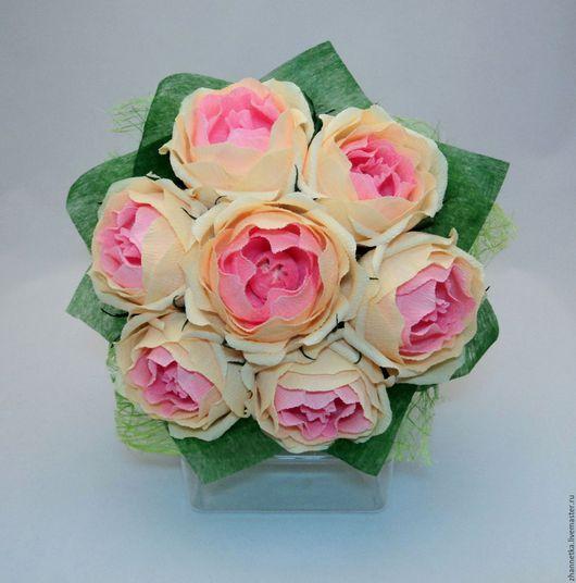 """Букеты ручной работы. Ярмарка Мастеров - ручная работа. Купить Букет из конфет """"Чайные розы"""".. Handmade. Комбинированный"""