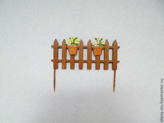 Миниатюра ручной работы. Ярмарка Мастеров - ручная работа. Купить Забор деревянный миниатюра. Handmade. Заборчик, миниатюра, мини-сад