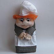 Для дома и интерьера ручной работы. Ярмарка Мастеров - ручная работа Прихватка  для кухни декоративная Кукла чулочная Повар. Handmade.