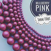 Бусины ручной работы. Ярмарка Мастеров - ручная работа Кристальный жемчуг Swarovski, Mulberry Pink, 3мм/10шт. Handmade.